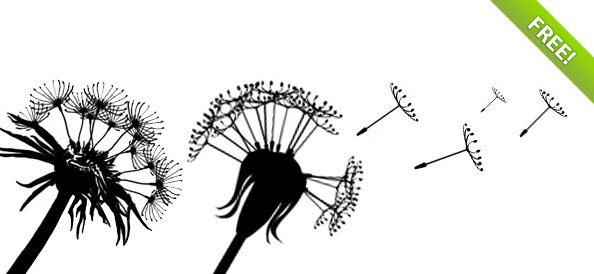 Dandelion Silhouette Design