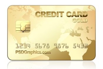 Free Gold Credit Card Design Mockup in PSD