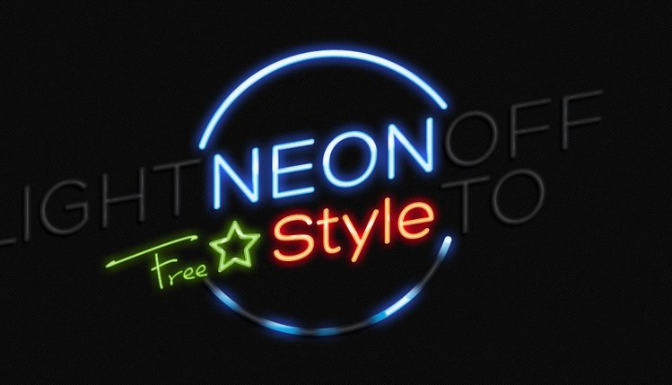 Neon Text Logo Sign
