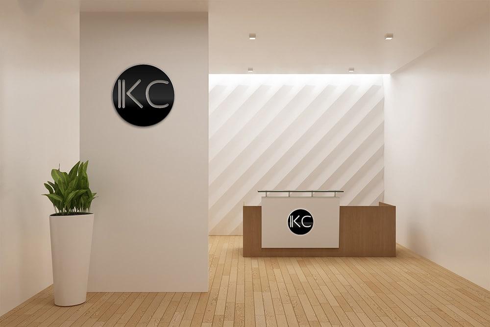 reception signage mockup