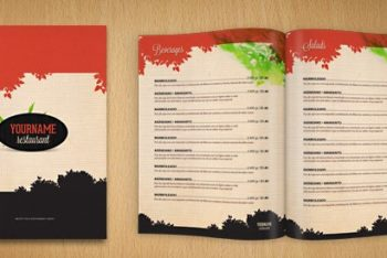 Easy-to-customize Restaurant Menu PSD Mockup