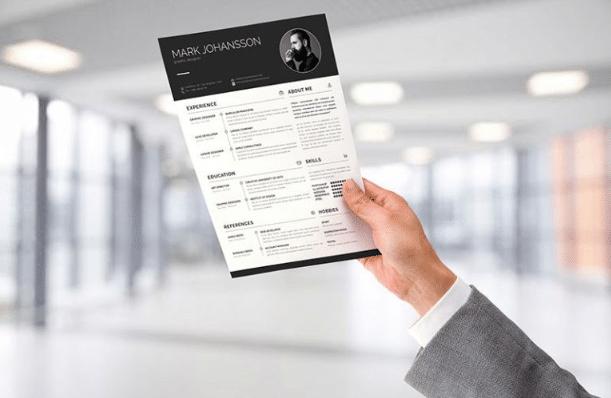 A4 Sized Resume PSD Mockup Design