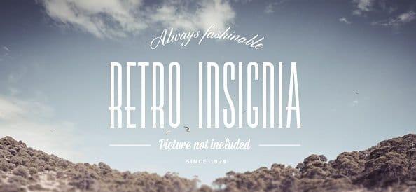 Retro Insignia Text