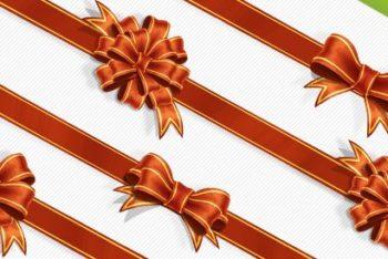Free Classy Ribbon Wrap Design Mockup in PSD