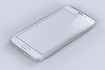 Free Pristine Samsung Galaxy Smartphone Mockup in PSD