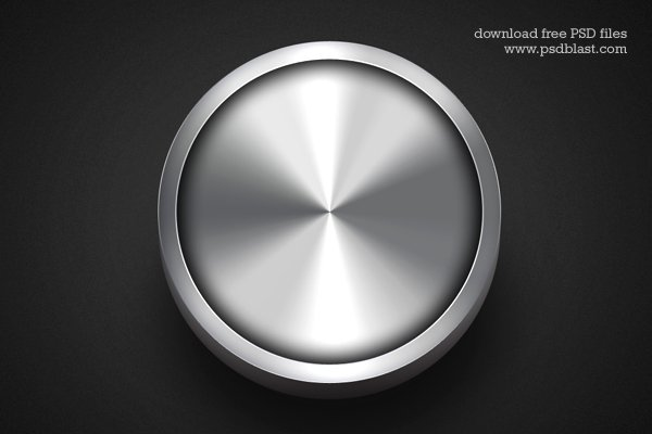 Shiny Metal Button Design