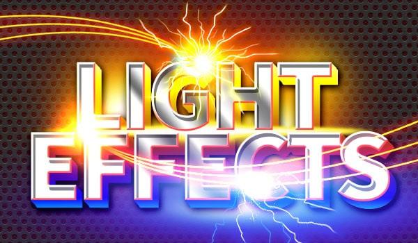 Sparkle Plus Light Text Effects