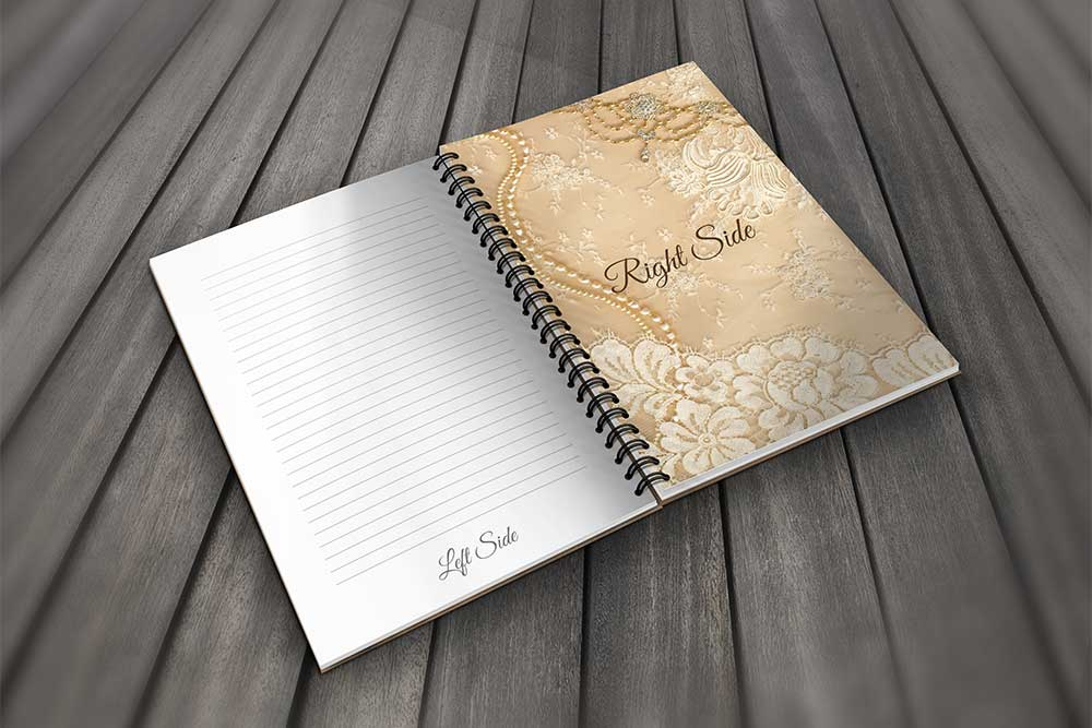 spiral notebook mockup free psd