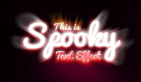 Spooky Text Effect Design