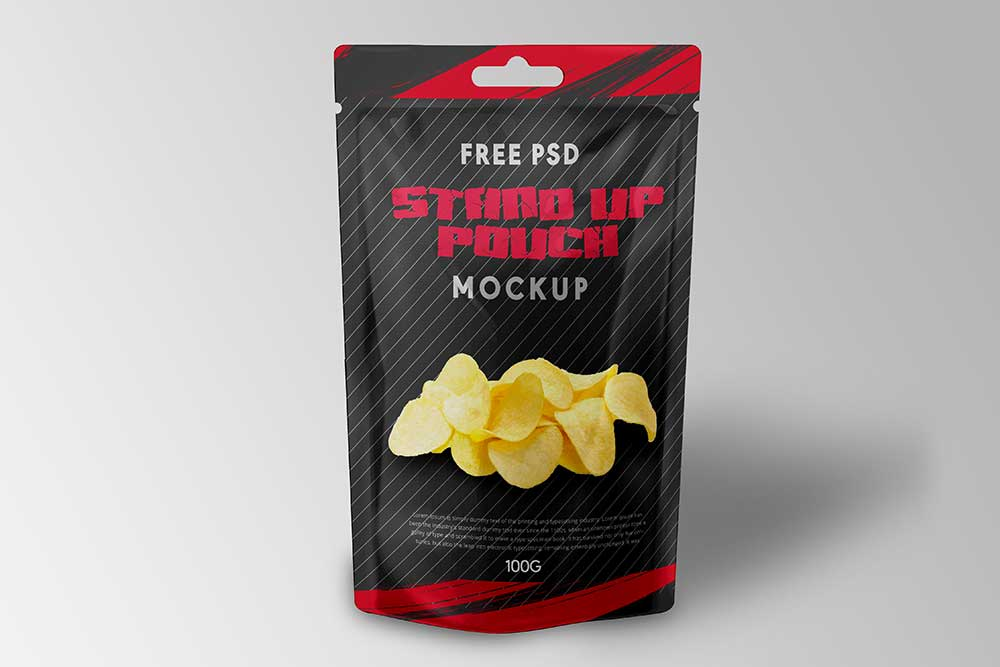 standup pouch psd mockup