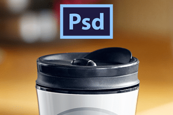 Free Starbucks Coffee Tumbler Design Mockup in PSD