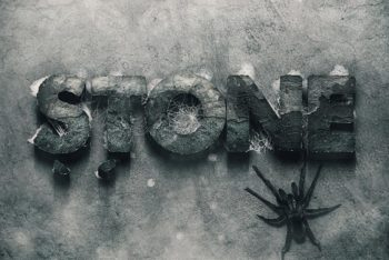 Free Hard Stone Text Effect Mockup in PSD