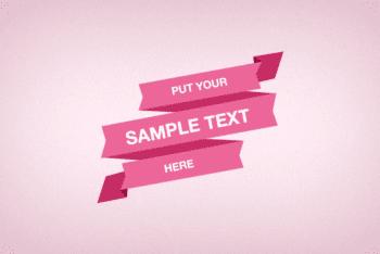 Free Digital Stylish Ribbon Design Mockup in PSD