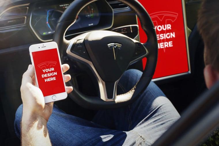 Tesla Car Plus iPhone