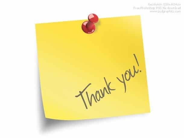 Gratitude Post Note