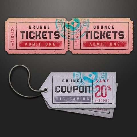 Free Paper Ticket Coupon Design Mockup In Psd Designhooks