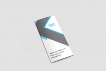 Useful Trifold Brochure Design Mockup Available in PSD Format