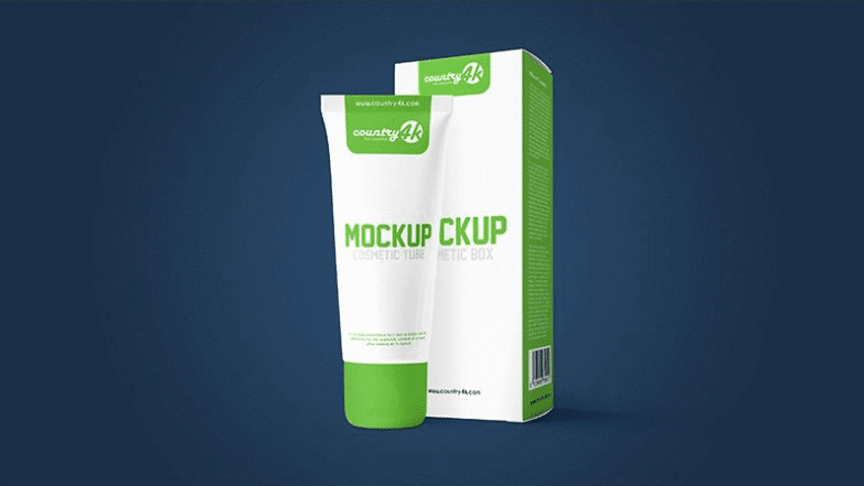Cosmetic Product Tube PSD Mockup Design