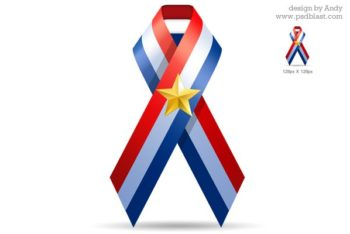 Free Patriotic USA Ribbon Design Mockup in PSD