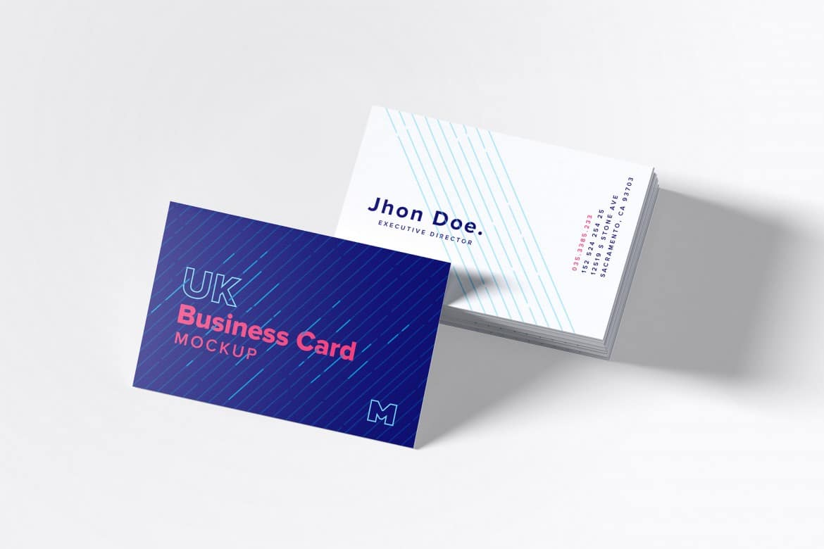 business card psd mockup with exclusive designs