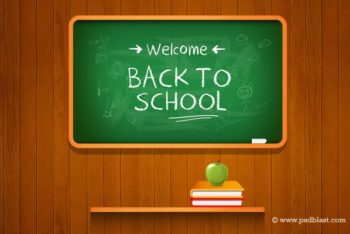 Free School Blackboard Vector Mockup in PSD