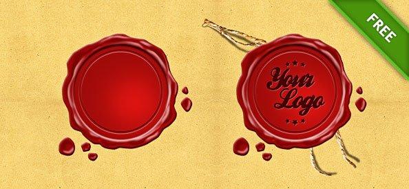 Wax Seal Logo Stamp Design