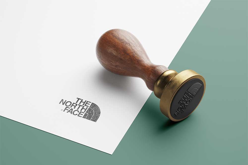 wooden stamp mockup