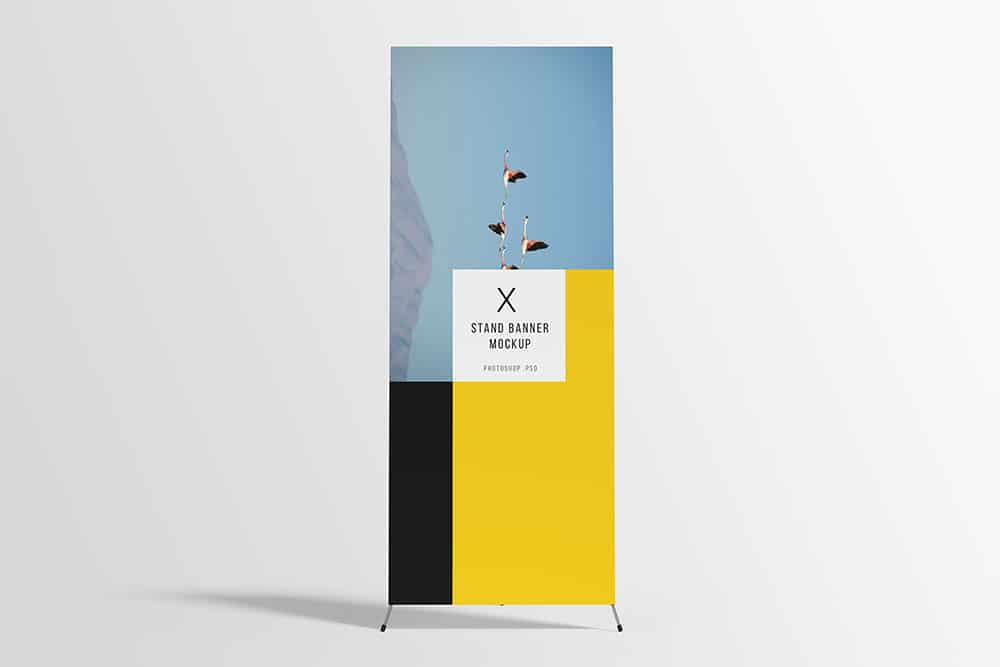 free download x stand banner mockup