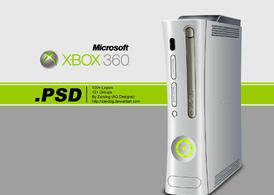 Free Microsoft Xbox Console Mockup in PSD