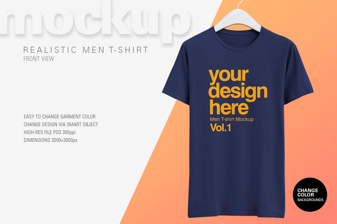 Men T-shirt PSD Template Design