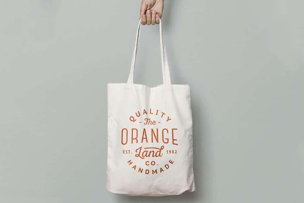 Off-White Canvas Tote Bag