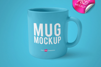 Free Coffee Mug Mockup Available with Customizable Features