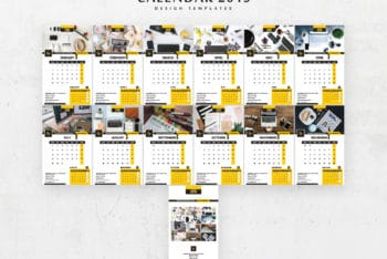 Beautiful 2019 Calendar PSD Mockup Available for Free