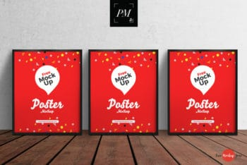 Free Poster PSD Mockup Available With Customizable Features