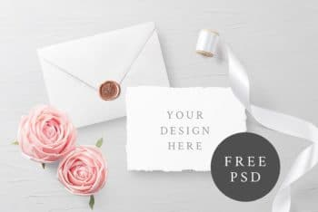 Sober & Simple Invitation Card PSD Mockup for Personal & Commercial Purposes