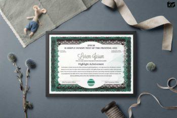 Certificate Design PSD Mockup – Sober Look & Useful Features