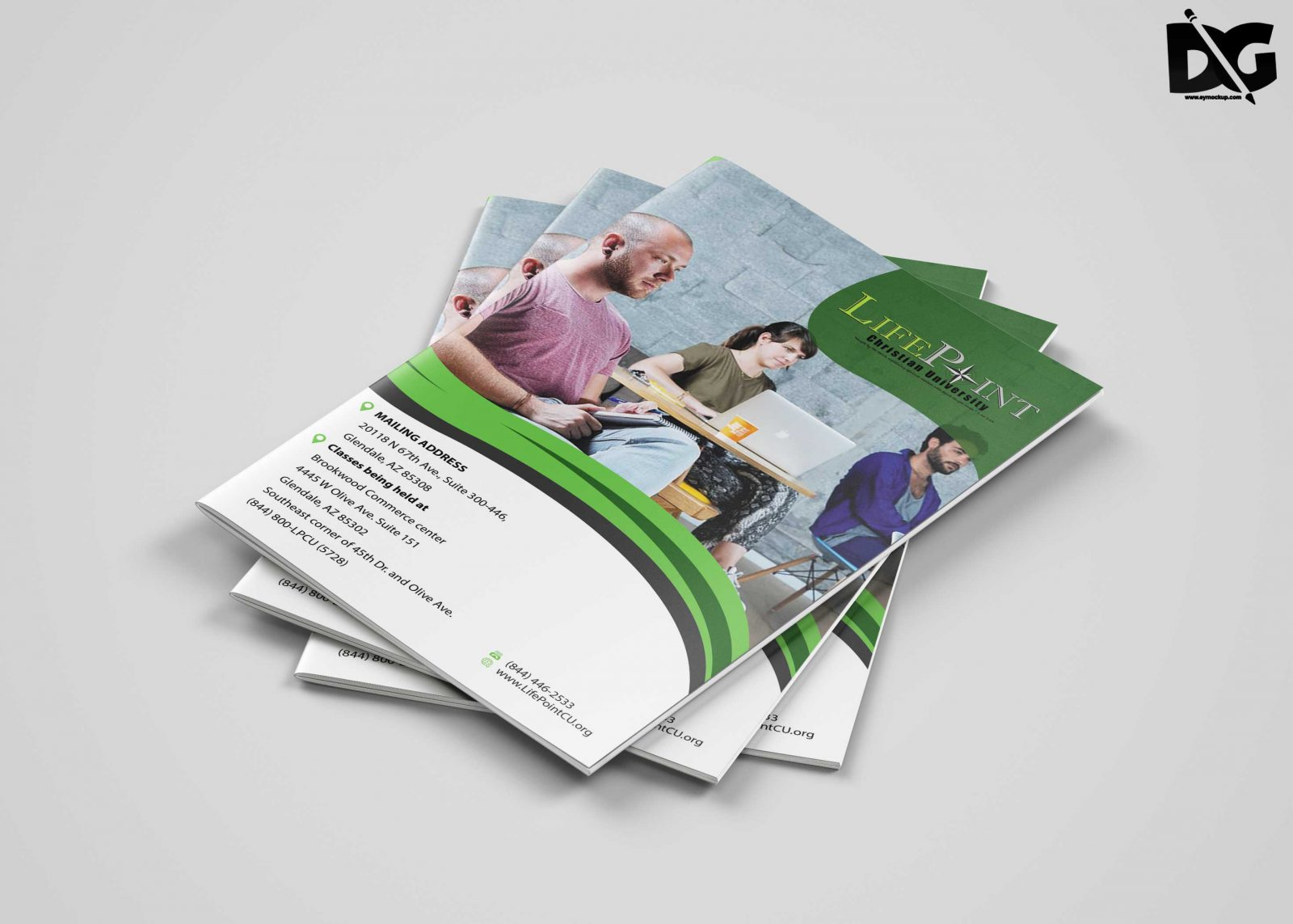 Bi Fold Brochure Psd Template Download Free Designhooks