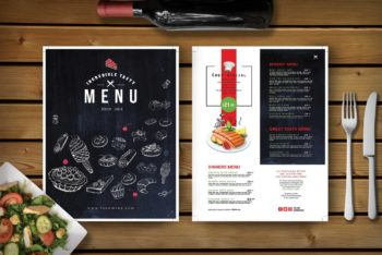 Ice-cream Shop Menu PSD Mockup Available for Free