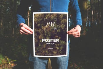 Photorealistic Poster Design Mockup Available in PSD Format