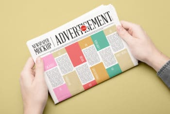 Free Newspaper PSD Mockup Available with Useful Features