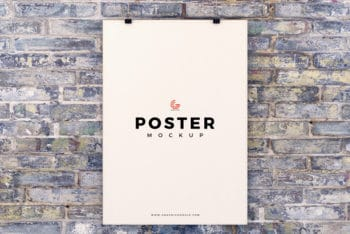 Simple Poster Design PSD Mockup Available for Free