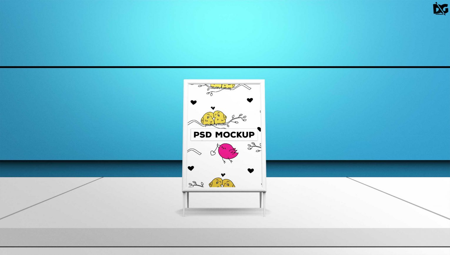 Table Tent Poster Mockup Design