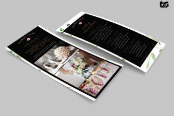 Free Wedding Invitation Rack Card PSD Mockup – Beautiful Design & Useful Features