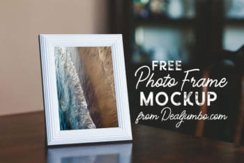 Beautiful Photo Frame PSD Mockup Available with a Photorealistic View
