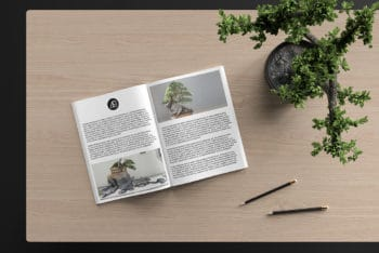 Catalog Magazine PSD Mockup Available for Free