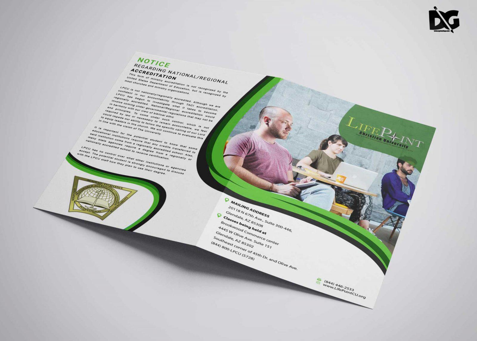 Bi Fold Brochure Psd Template Download Free Designhooks