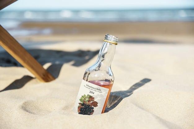 Alcoholic Drink Plus Sand