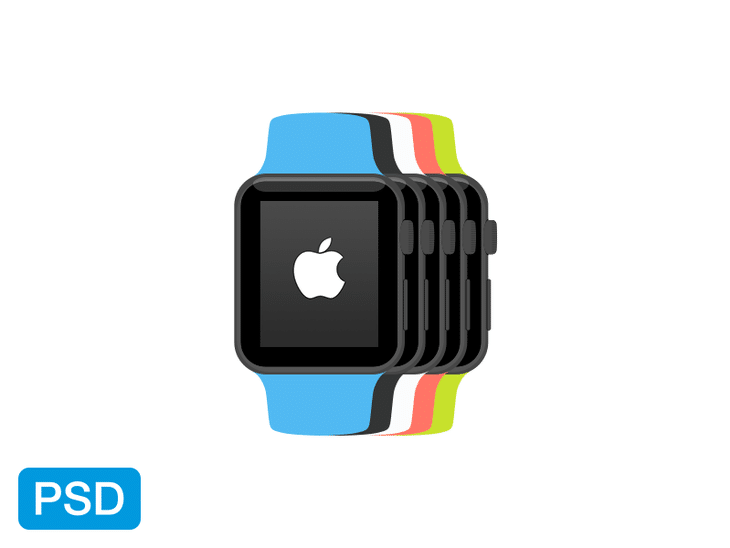 Flat Apple Watch Vectors