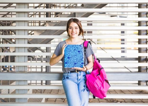 School Girl Plus Book Concept