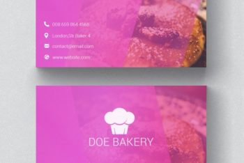 Free Bakery Business Card Mockup in PSD